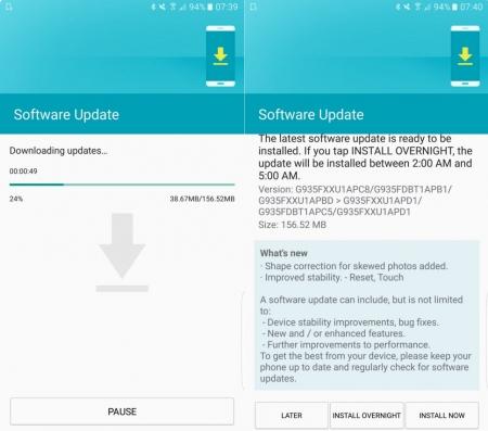 Обновление Samsung Galaxy S7 и Galaxy S7 Edge исправит проблему с дисторсией 2 (2)